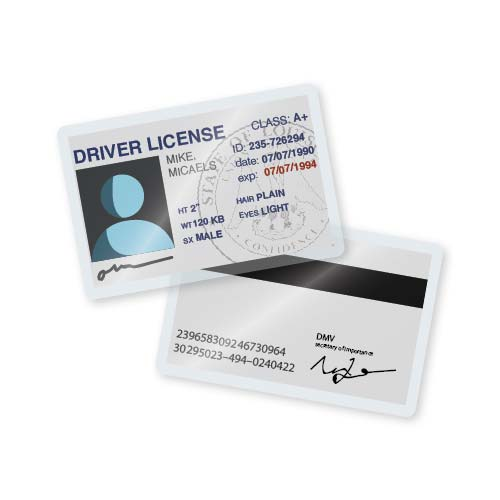 TruLam 5 Mil Laminating Pouches Drivers License Size 238 x 358 500Bx