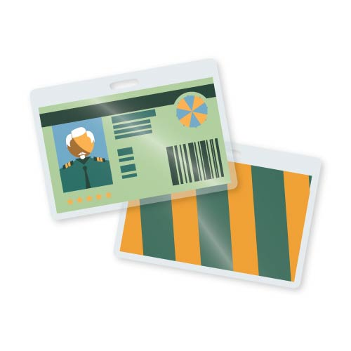 TruLam 10 Mil Laminating Pouches With Long Side Slot Military Card Size 258 x 378 500Bx