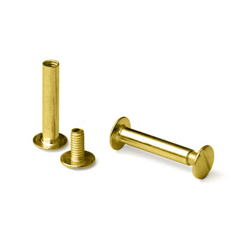 Three gold screw posts