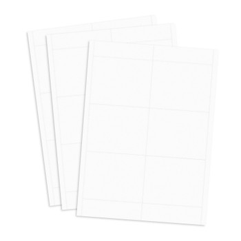 White printable badge stock