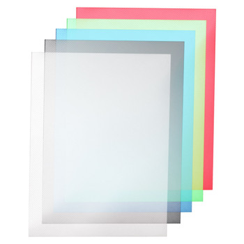 Multicolored transparent binding covers