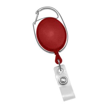 Red Carabiner Badge Reel
