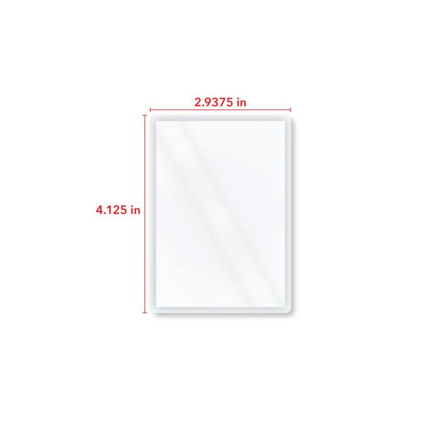 4.125 inch by 2.9375 inch dimension