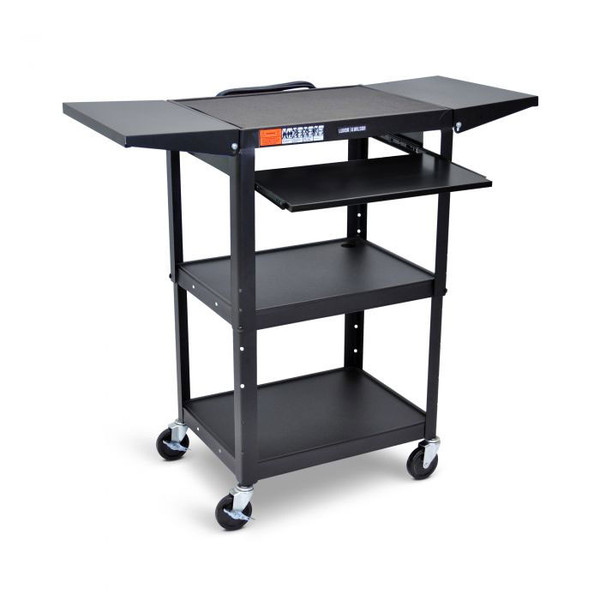 3 shelf cart with tray & extension