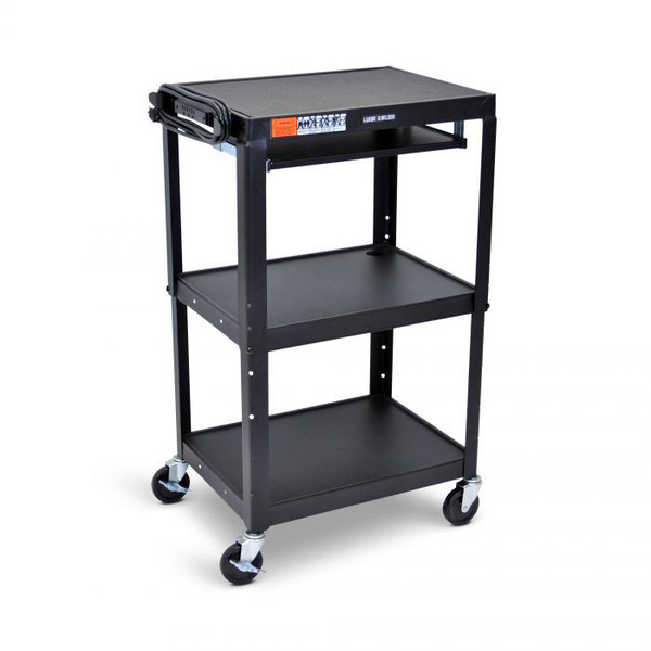 3 shelves and pullout tray