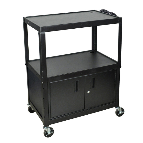 cabinet with upright shelving
