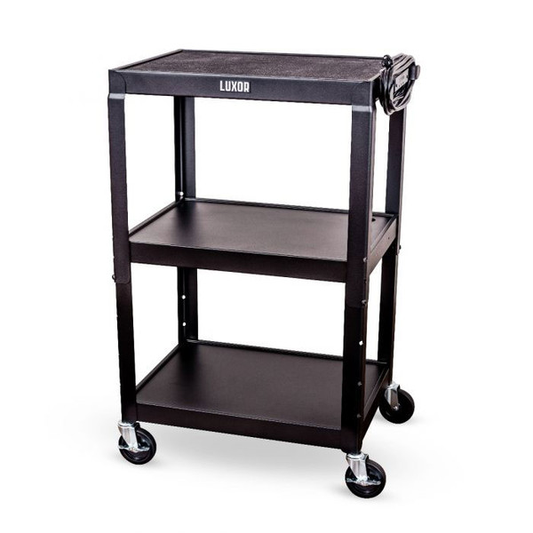 tub cart with 3 shelves and power