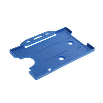 Blue horizontal badge holder