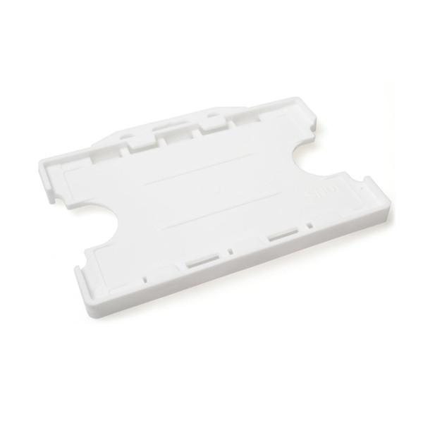 White horizontal badge holder