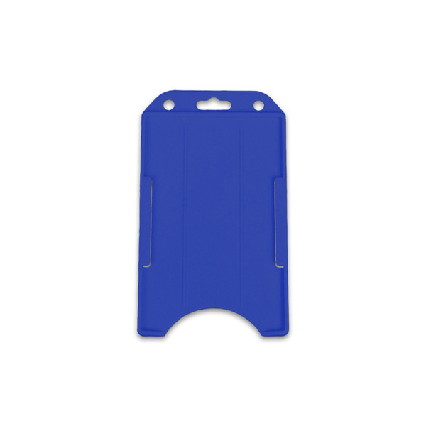 Blue vertical badge holder