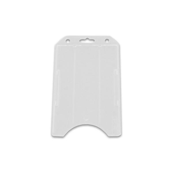 Clear vertical badge holder