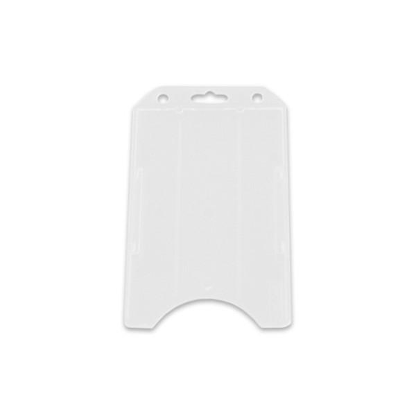 White vertical badge holder