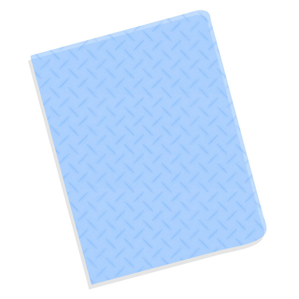 blue 16 mil crystal texture cover