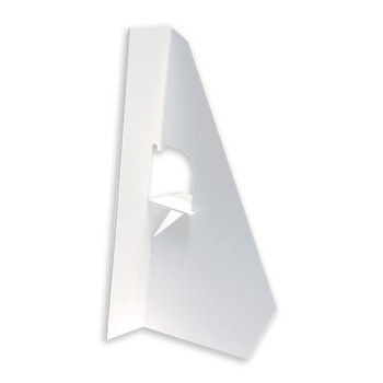 5 In. White Display Easels - Single-Wing propped up