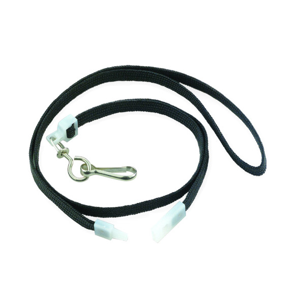 Black Flat Breakaway Lanyards W/Swivel Hook