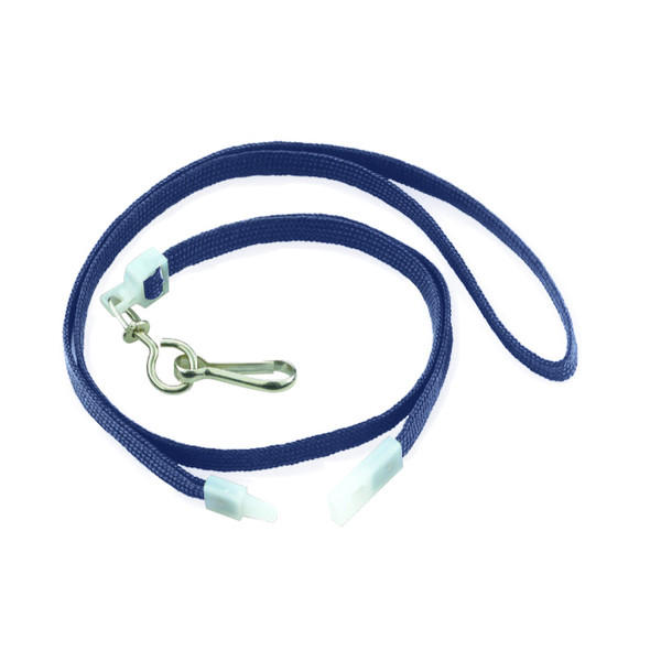 Navy Flat Breakaway Lanyards W/Swivel Hook