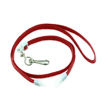 Red Flat Breakaway Lanyards W/Swivel Hook