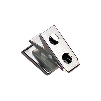 Self adhesive metal clip