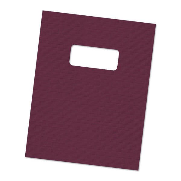 maroon 12 mil linen weave cover