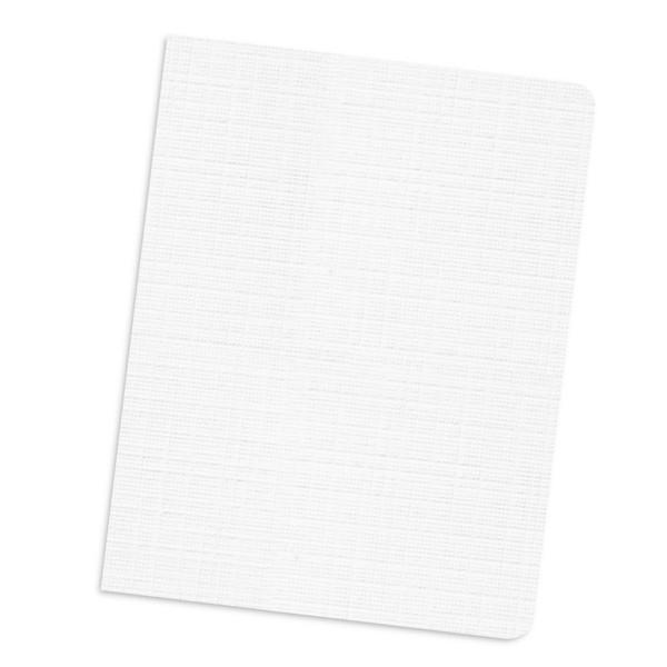 white 12 mil linen weave cover