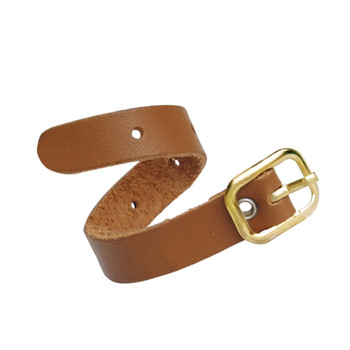 Tan Leather Luggage Straps Twisted view