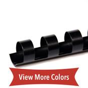 black 12mm 19 ring comb spine