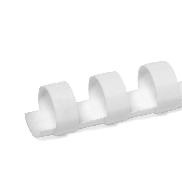 white 12mm 19 ring comb spine