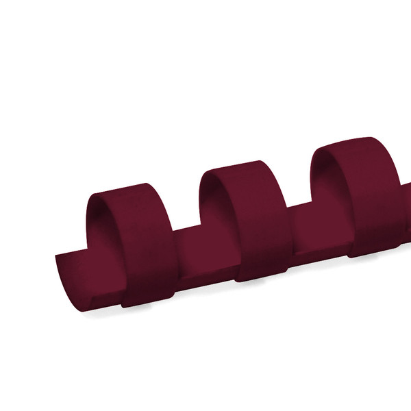 maroon 12mm 19 ring comb spine