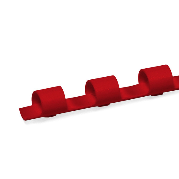 red 8mm 19 ring comb spine