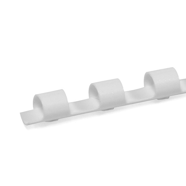 white 8mm 19 ring comb spine