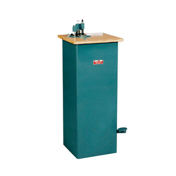 Teal manual floor standing corner rounder with foot pedal