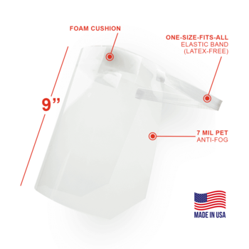 9 inch full length face shield