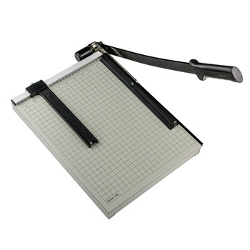 Black and Silver 15in Guillotine Paper Trimmer - black handle