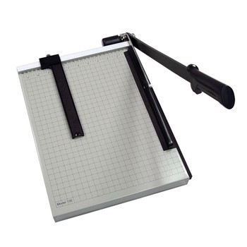 Black and Silver 18 In. Guillotine Paper Trimmer w/ black handle