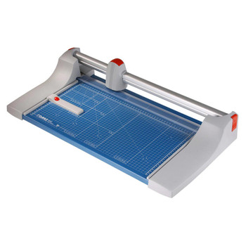 Blue and grey 20 In. Rolling Paper Trimmer - with guide lines and guider