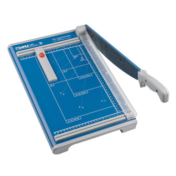 Blue 12 In. Guillotine Paper Trimmer with guild and grid marks