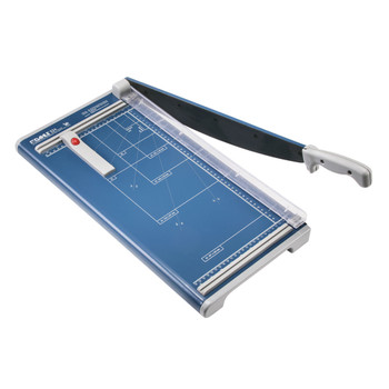 Blue 18 In. Guillotine Paper Trimmer with guide and grid marks