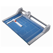Blue 14.125 In. Rolling Paper Trimmer with guide