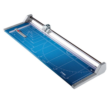 Blue 37.5 In. Rolling Paper Trimmer with guide lines
