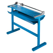 Blue 51 In. Rolling Paper Trimmer With Stand with paper catch