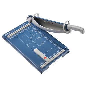Blue and grey 14.5 In. Guillotine Paper Trimmer (35 Sheet) - with guides