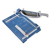 Blue and grey 14.5 In. Guillotine Paper Trimmer with safety guard