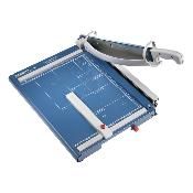 Blue and grey 15.5 In. Guillotine Paper Trimmer with grid marks