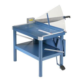 Blue 32 In. Large Format Guillotine Paper Trimmer with safe guard and stand
