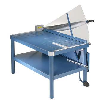 Blue Premium 43 In. Large Format Guillotine Paper Trimmer with shield