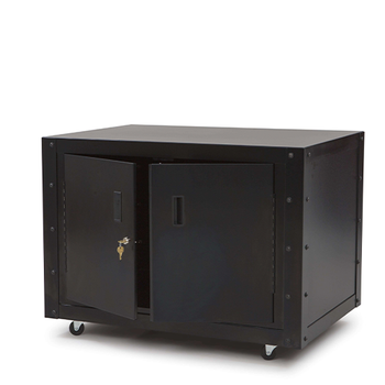 cabinet with electrical outlets