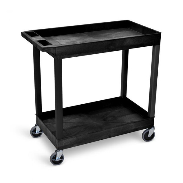 tub cart with 2 shelves and wheels