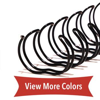 black 1-1/4 in. twin loop spine