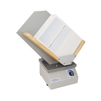 Tan paper jogger with wooden paper holder