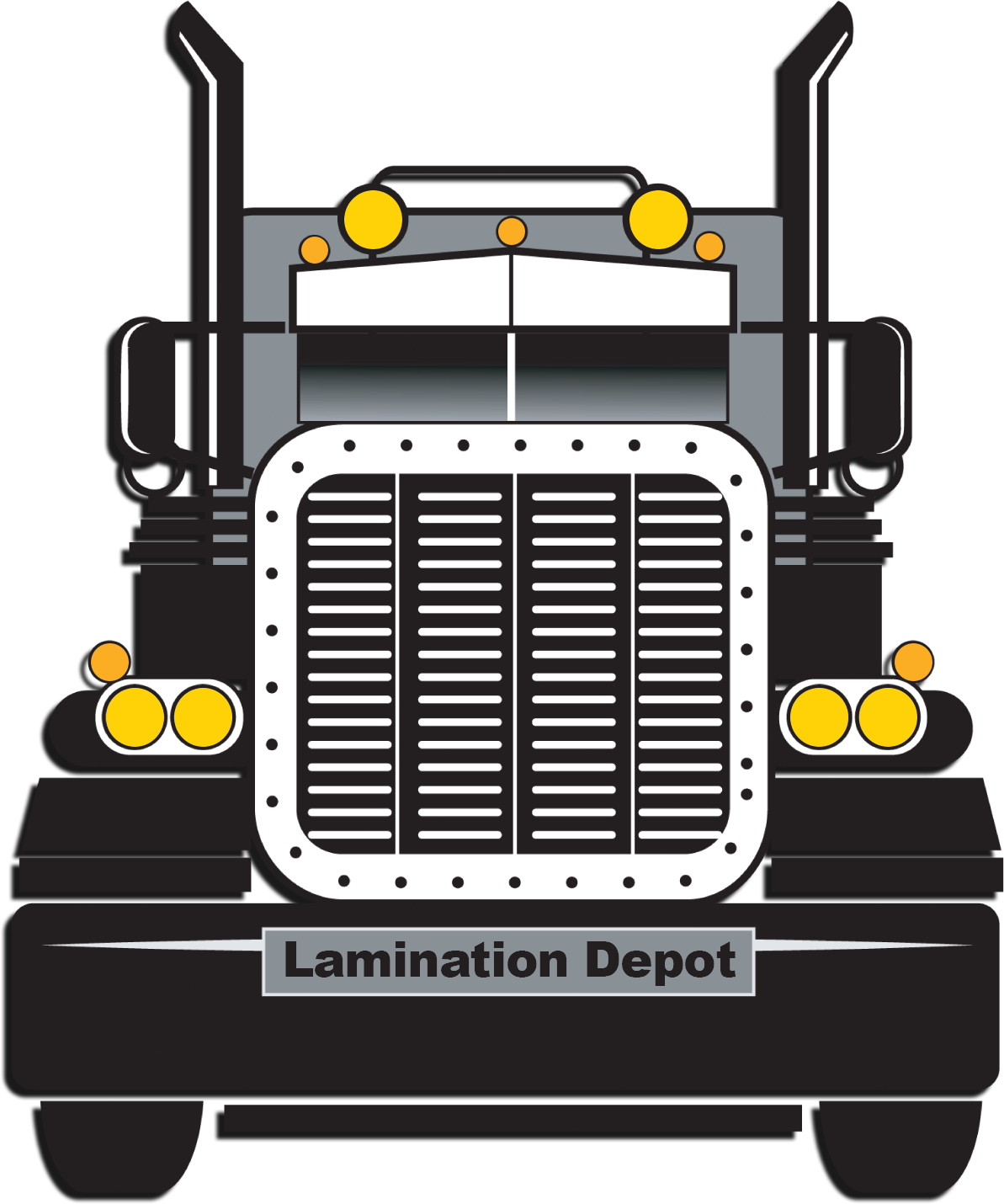Semi Truck with Lamination Depot License Plate